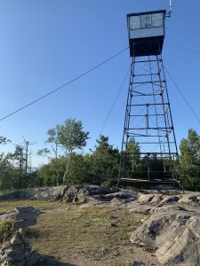 fire tower at top of mountain